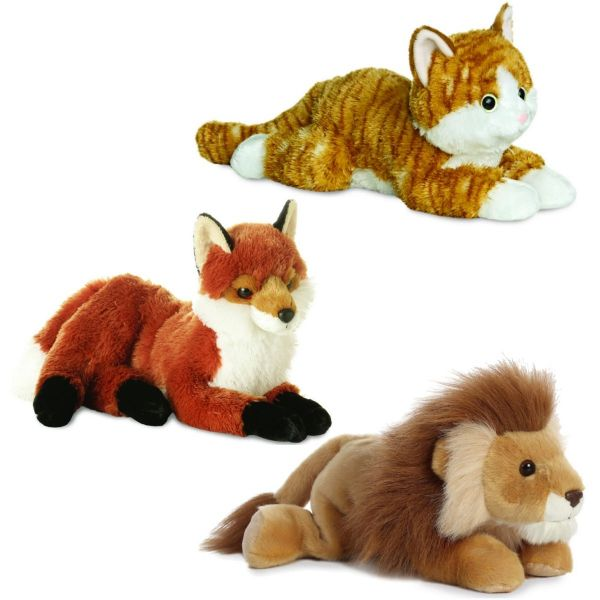 Aurora Flopsies Cuddly Soft Toy Teddy Choose From Fiona Fox, Lion Or Chester Cat